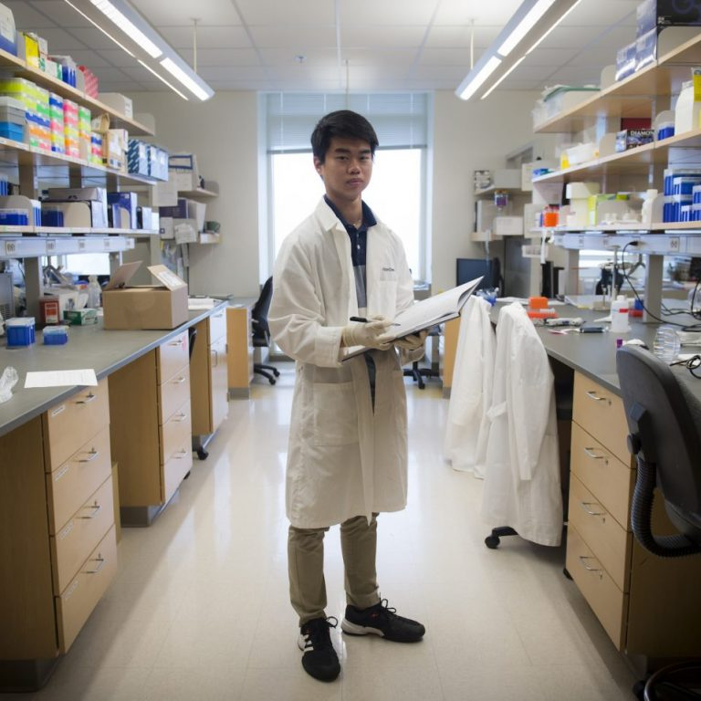 Aaron Sandoval, a biology sophomore, has been awarded a Goldwater Scholarship